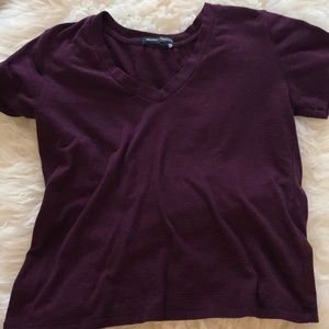Brandy Melville black and red crop top
